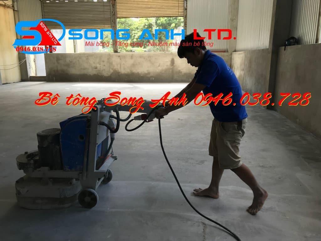 Mài đánh bóng tăng cứng sàn bê tông - Công ty SONG ANH 0946.038.728 Đà Nẵng Huế Công ty bê tông Song Anh Phan thị Mỹ