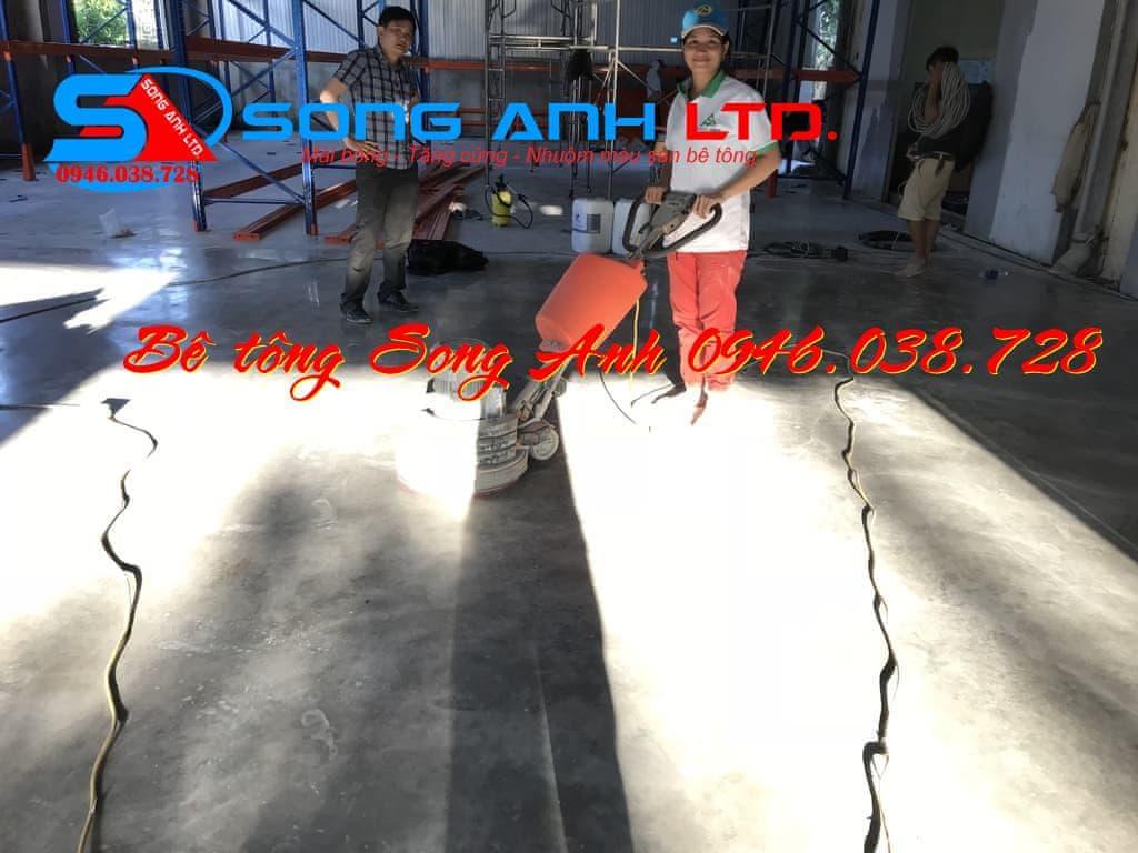 Láng nền bê tông không đánh màu Đà nẵng