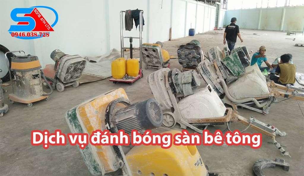 dịch vụ đánh bóng sàn bê tông Đà Nẵng