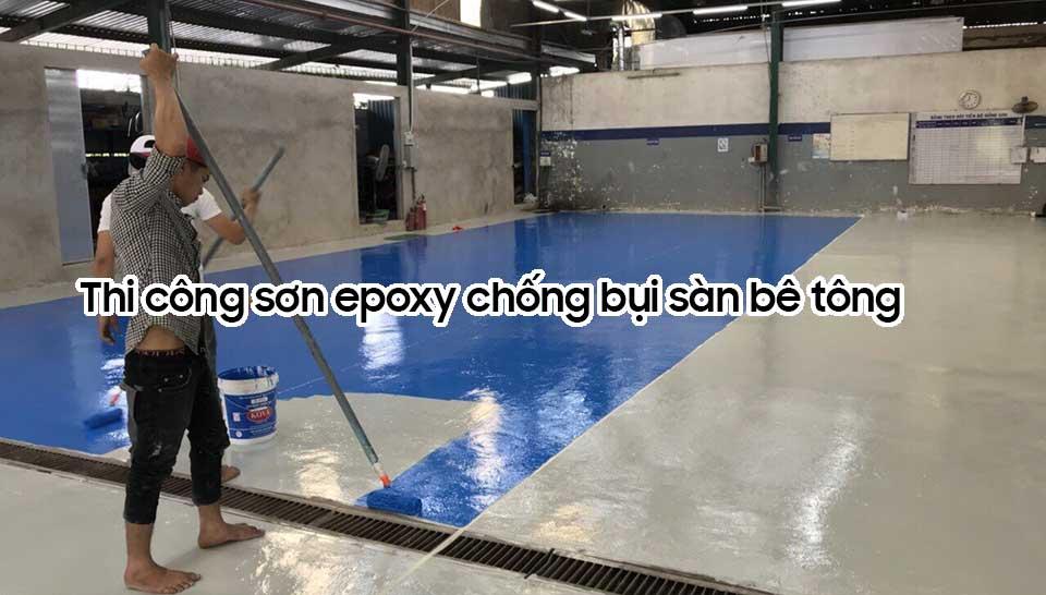 Sơn epoxy chống bụi sàn bê tông
