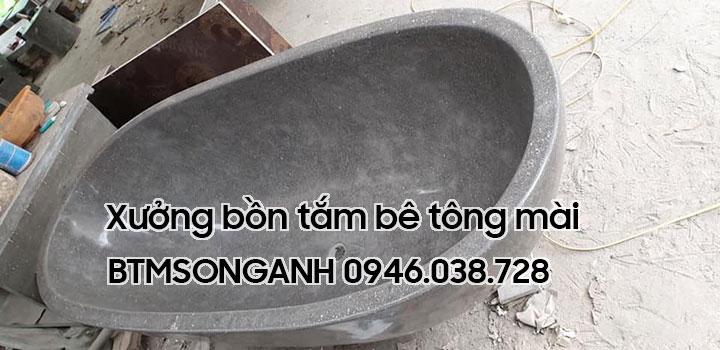 Xưởng sản xuất bồn tắm bê tông mài tại Đà Nẵng, Huế, Hội An, Tam Kỳ, Quảng Ngãi