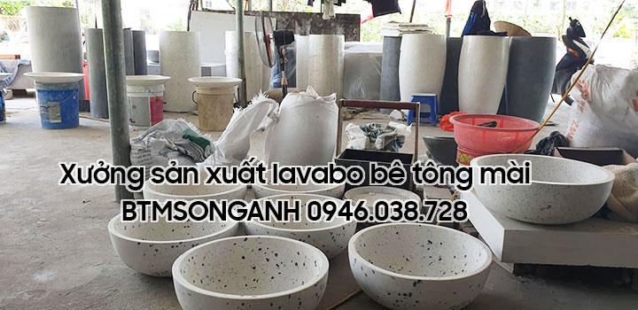 Xưởng sản xuất lavabo bê tông nhẹ