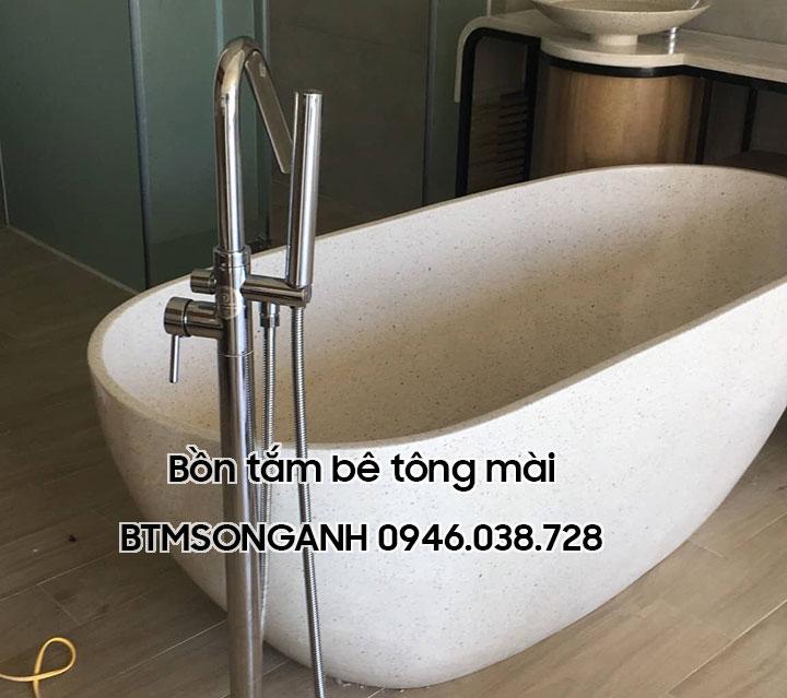 Cung cấp bồn tắm bê tông mài tại Đà Nẵng, Huế, Hội An, Tam Kỳ, Quảng Ngãi, Quảng Bình, Quảng Trị