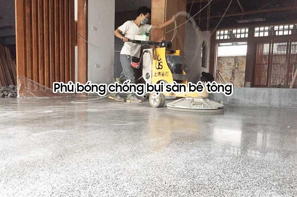 Phủ bóng chống bụi sàn bê tông