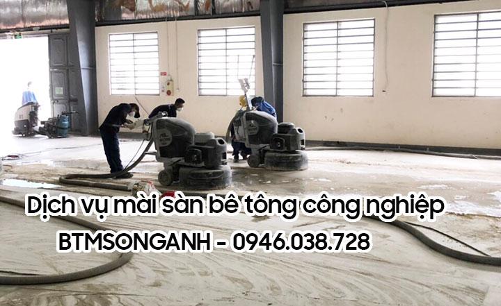 Dịch vụ mài sàn bê tông công nghiệp BTMSONGANH