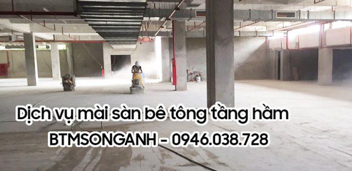 Dịch vụ mài sàn bê tông tầng hầm