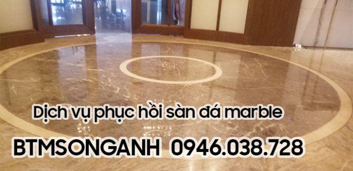 Dịch vụ phục hồi sàn đá marble chuyên nghiệp