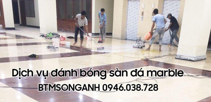 Dịch vụ đánh bóng sàn đá marble chuyên nghiệp