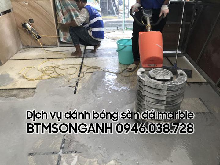 Dịch vụ đánh bong sàn đá marble